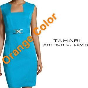 Tahari orange Dress 👗